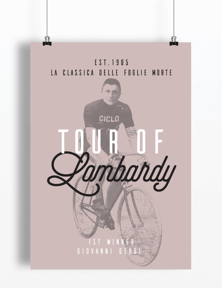 Image of Giovanni Gerbi at Tour of Lombardy print - A4 & A3