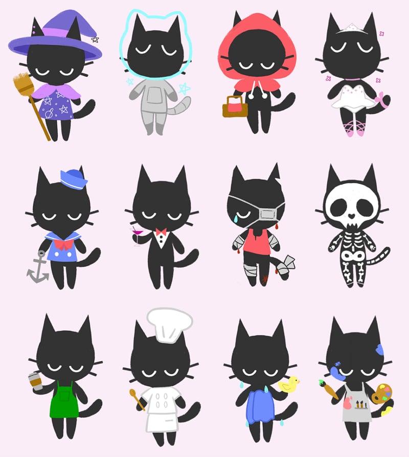 "Image of Sad Cat 2"" Charms"