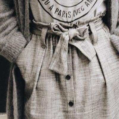 Jupe Nilou Prince de Galles - Maison Brunet Paris