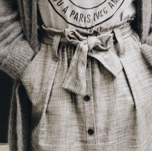 Jupe Nilou Prince de Galles 110€ -50% - Maison Brunet Paris