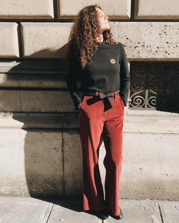 Pantalon Gabin bordeaux - Maison Brunet Paris