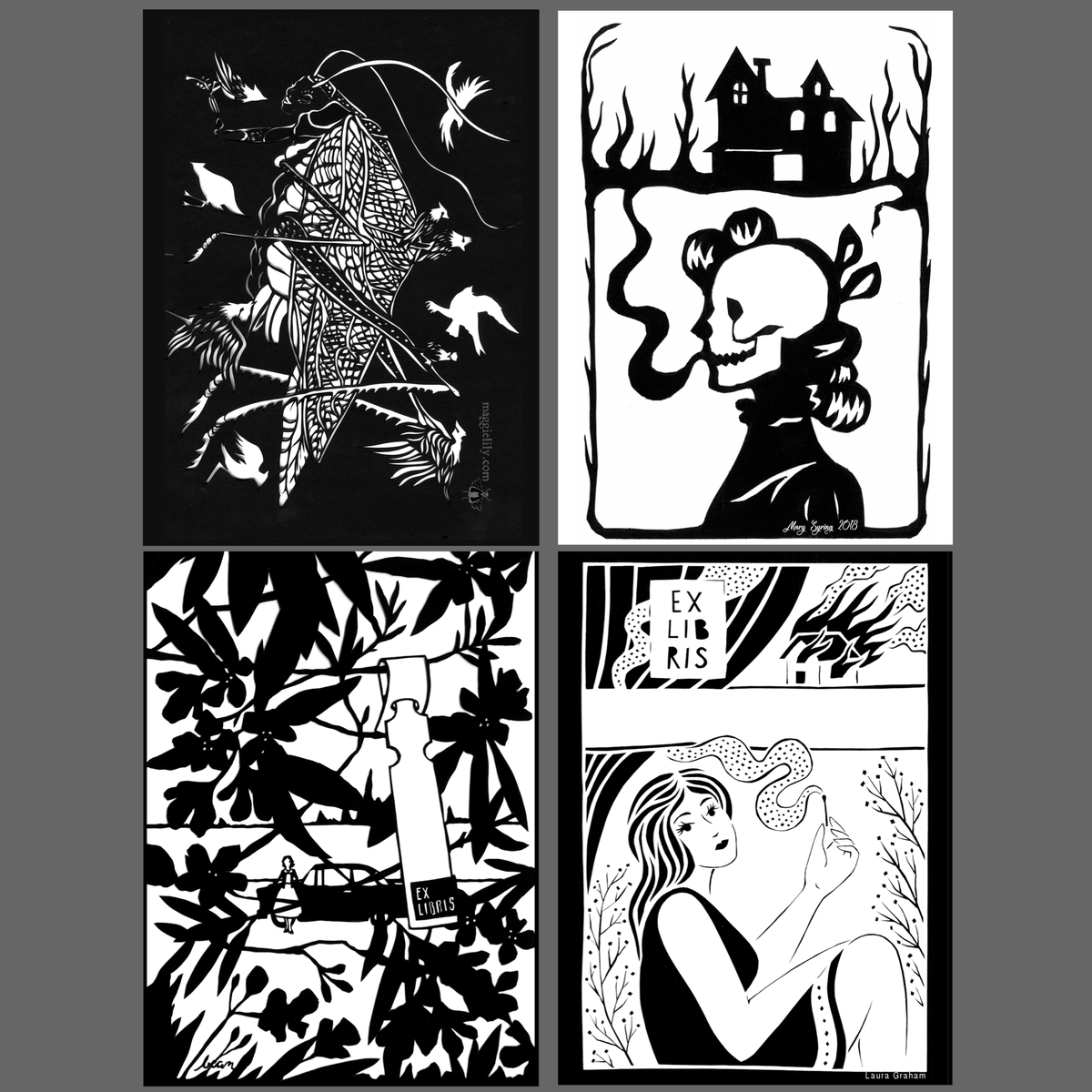 Image of Darkness Within: A set of twelve bookplates