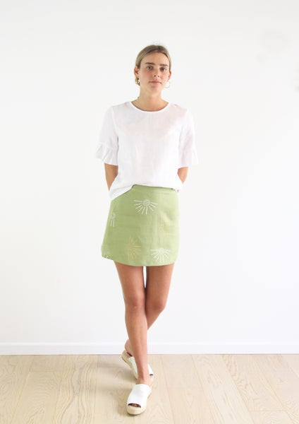 Image of Mini Skirt in Fern