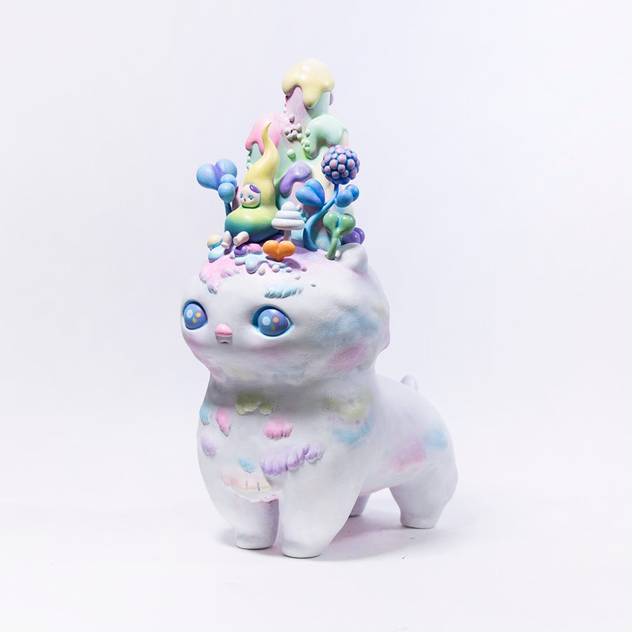 Image of PUCKY SPACE CAT MARSHMALLOW EDITION WAREHOUSE FIND!