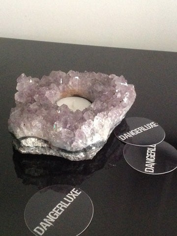 Image of AMETHYST TEALIGHT HOLDER - AM2