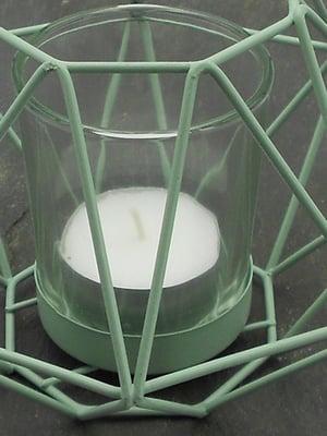 Image of GEOMETRIC TEALIGHT HOLDER Green
