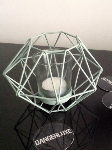 Image of GEOMETRIC TEALIGHT HOLDER Green