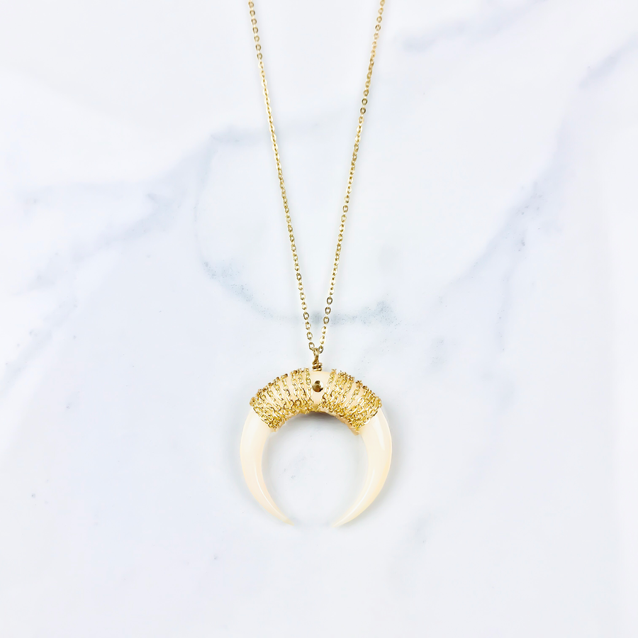Image of Collier Horn - Gold Filled
