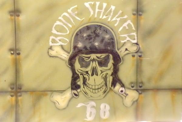 Image of Custom Painted Bone Shaker Panel