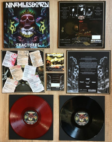 Image of NINE MILES DOWN - Fractures: LP, black or red vinyl, 180 g, hand-n° + bonus CD-EP/Album CD Digipak