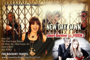 Image of Ticket for NEW DAY DAWN w/ Janet Gardner/VIXEN