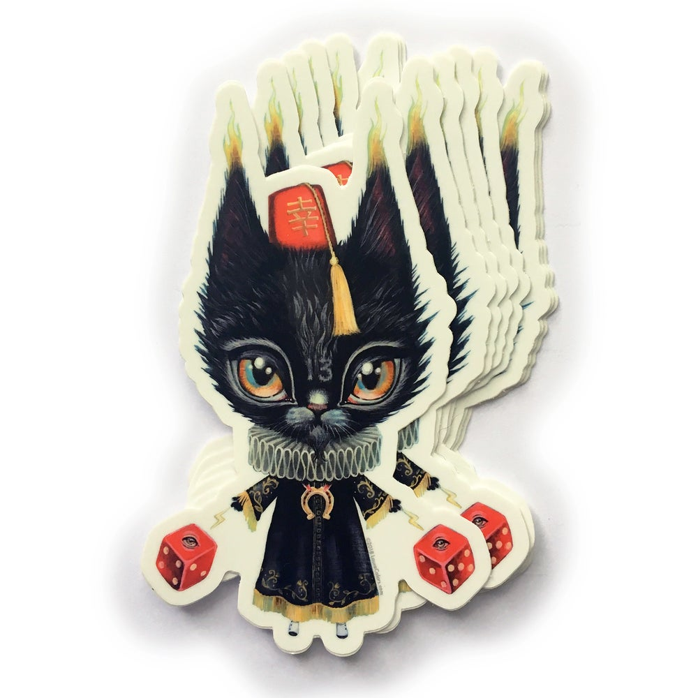 Image of Get Lucky Cat (Sticker)