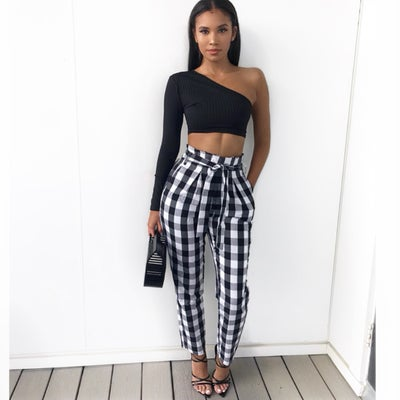 Image of Rebecca checkered pants