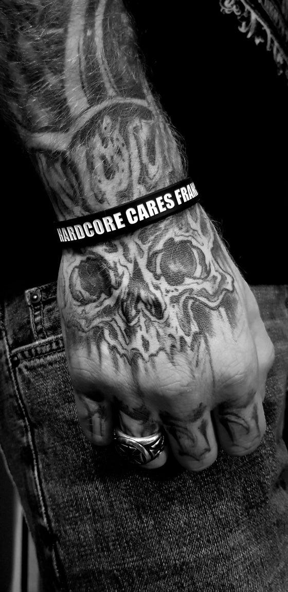 "Image of Bracelet Silicone ""HARDCORE CARES"""