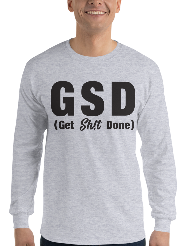 Image of Get Sh!t Done - Grey Long Sleeve