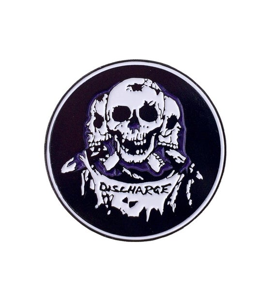 Image of Discharge enamel pin