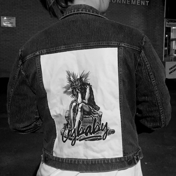 "Image of ""Crybaby Jesus"" Back Patch"