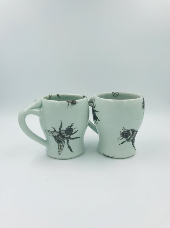 Image of Black and White Bee Mugs