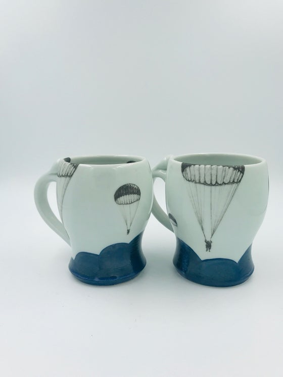Image of Parachute Mugs with Blue Clouds