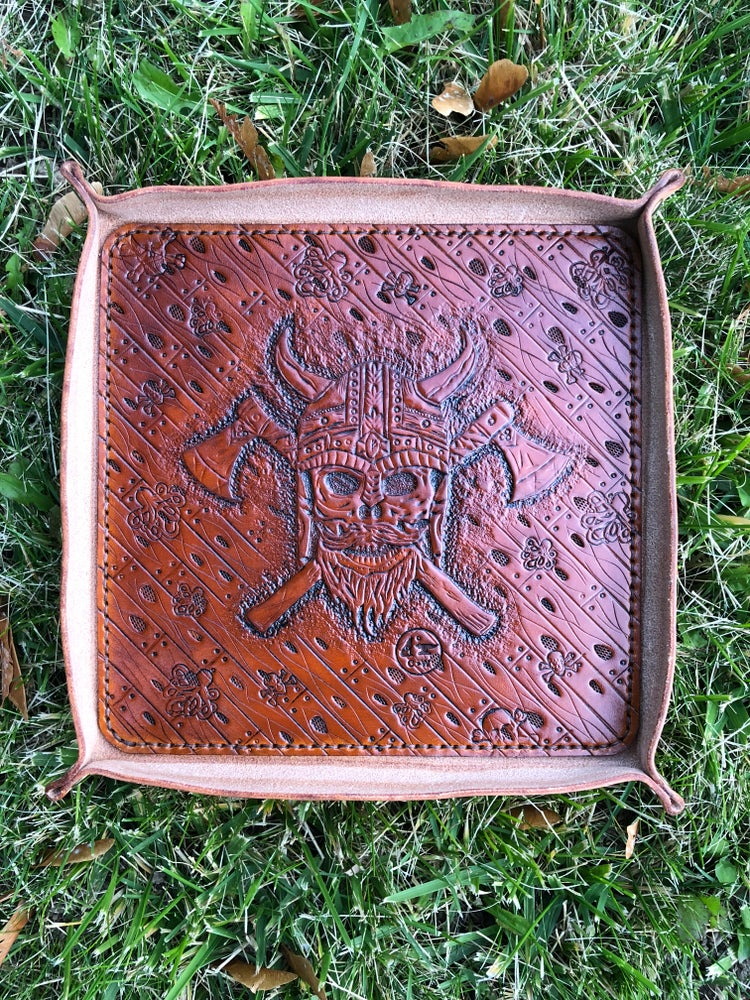 "Image of ""Ragnar's Rest"" Custom Valet Tray - Dump Tray"