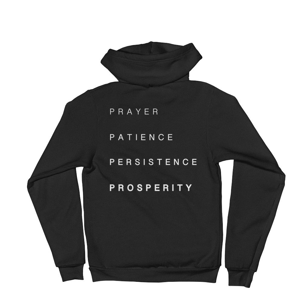05b81d71c Women's black hoodie, white P4 and words on the back. | P4 The Brand