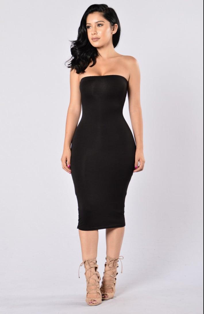 Image of Back to Basics Tube Dress~ Black