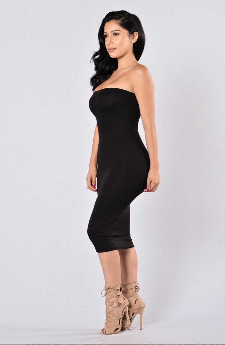 Image of Back to Basics Tube Dress~ Black