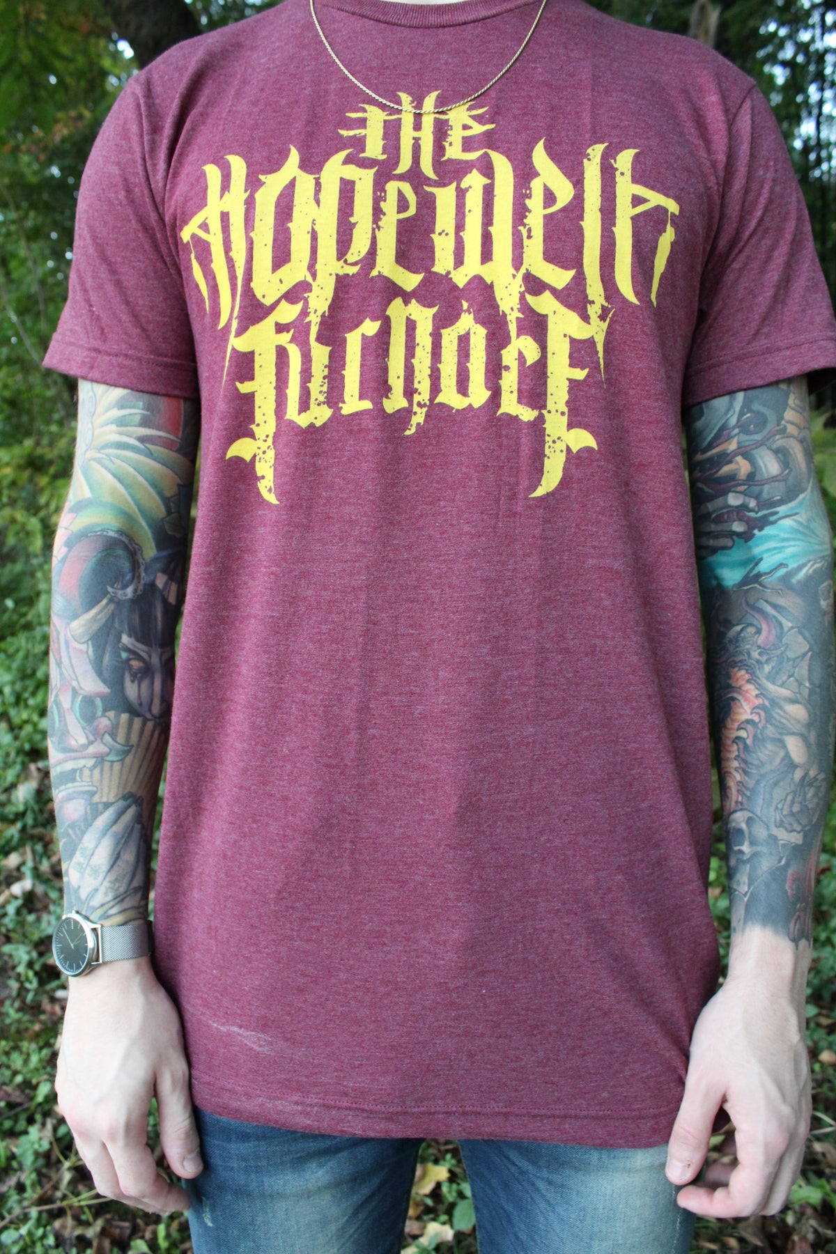 Image of Hopewell Logo Tee - Burgundy
