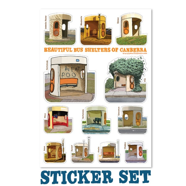 Image of Bus Shelter Sticker Set