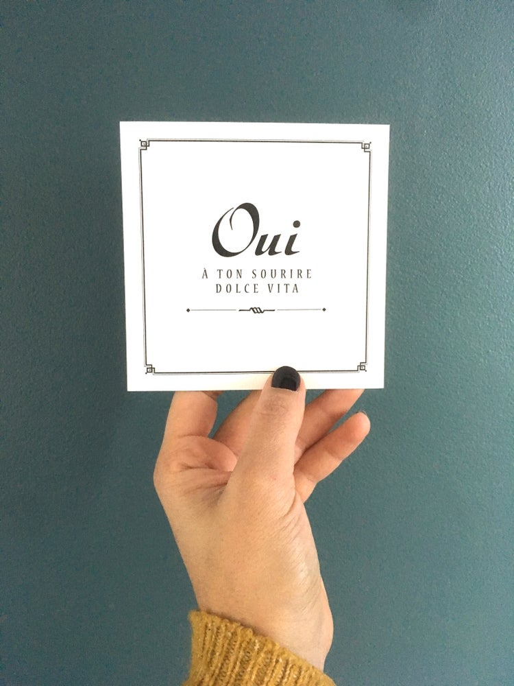 Image of Carte OUI