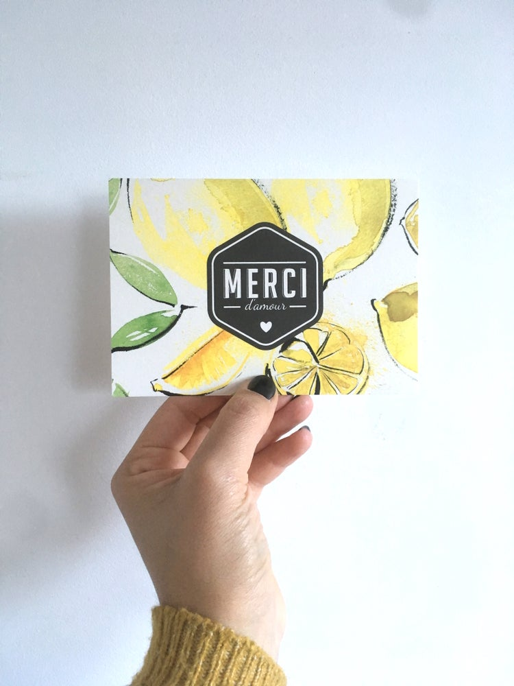 Image of Carte MERCI D'AMOUR