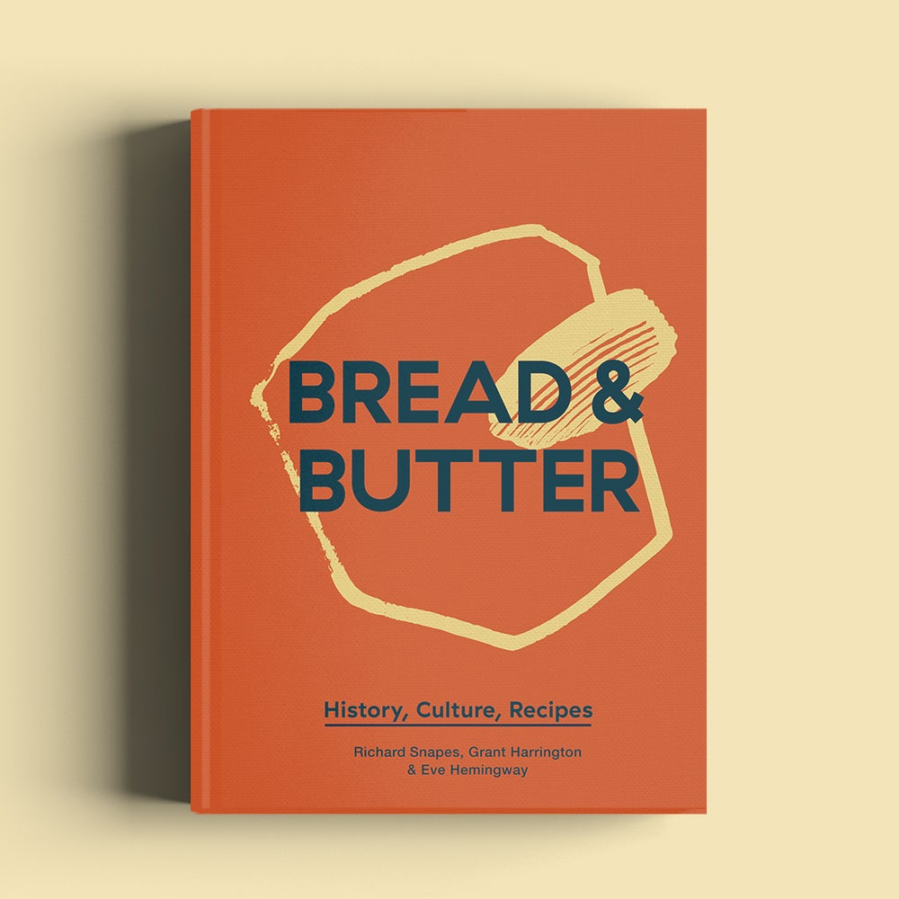 Image of Bread & Butter: History, Culture, Recipes (Hardback) + 1 X FREE @ampersanddairy Blue cotton tote bag