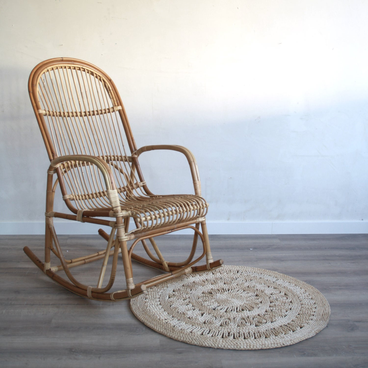 "Image of Mecedora rattan ""Dolce"""