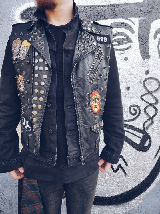 Image of 999 Leather Vest
