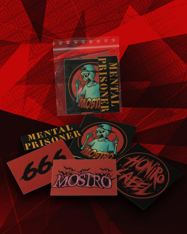 MOSTRO - STICKERS PACK - HONIRO STORE