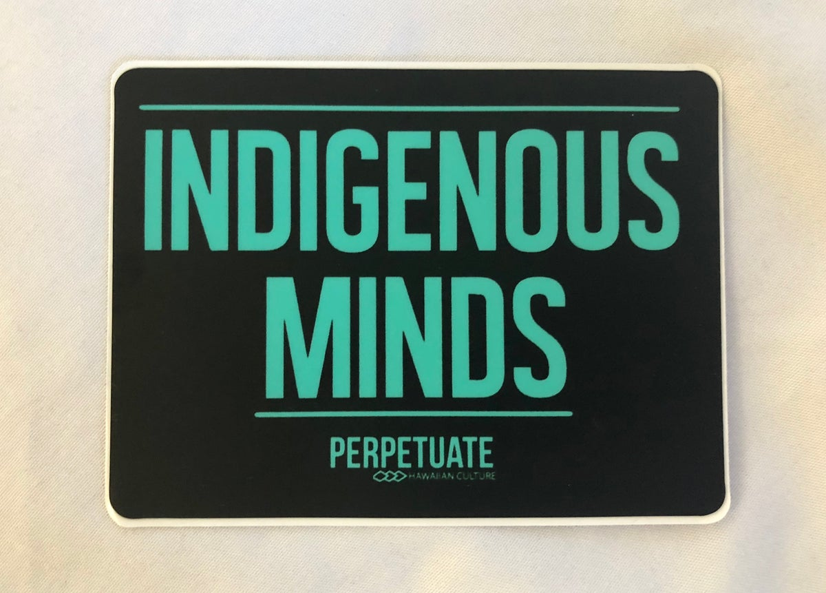 Image of Indigenous Minds Sticker (teal/black)