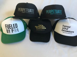 Image of Perpetuate Trucker Hat (black + silver)