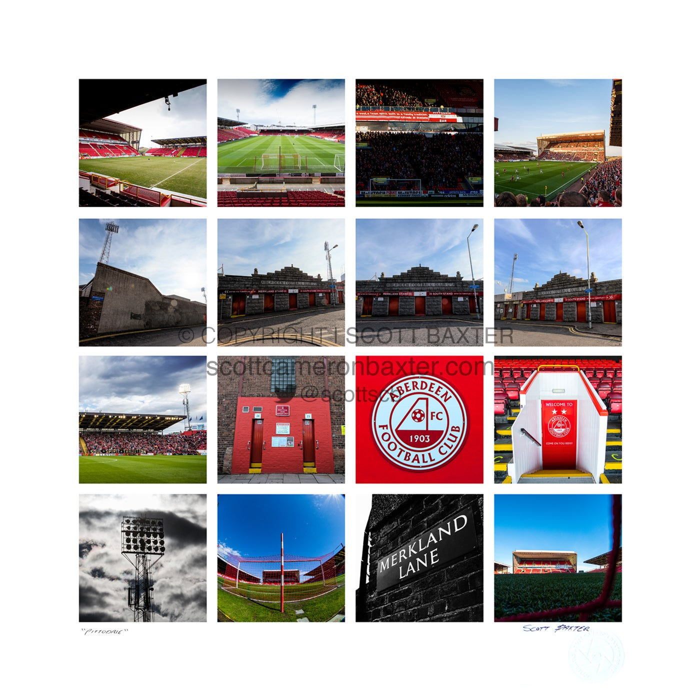 Image of Pittodrie Stadium Collage Poster