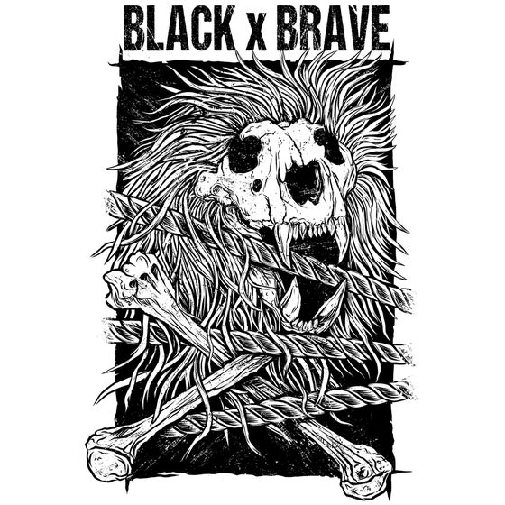 Image of BLACK X BRAVE POSTER