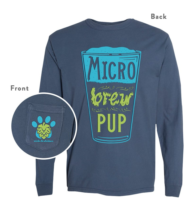 Image of Mirco Brew Pup - Pocket Long Sleeve