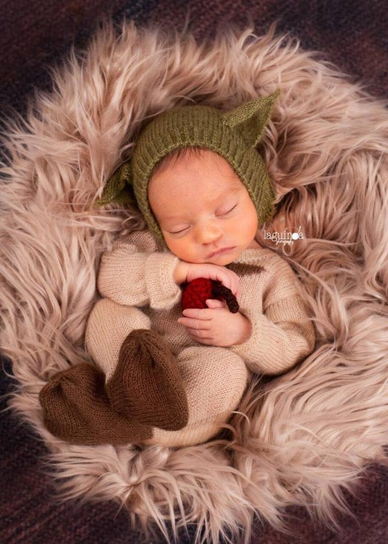 Image of Little Yoda Jammy/Hat Set