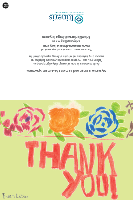 Image of Roses Thank You note card