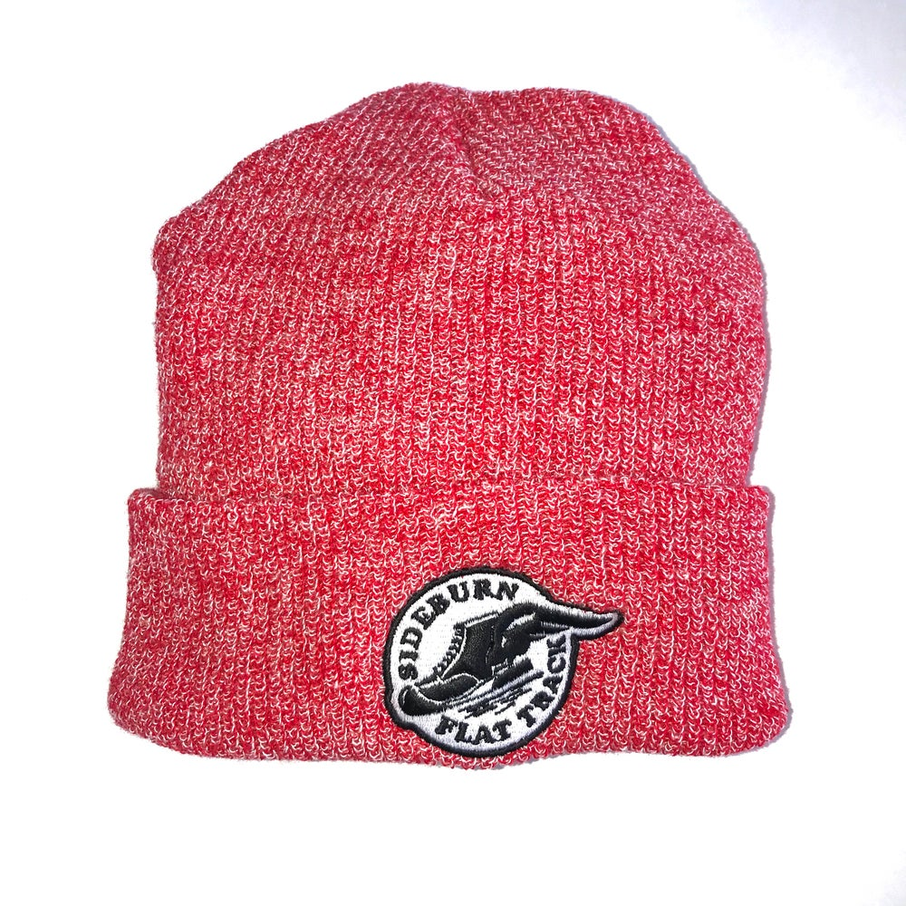 Image of Sideburn Flat Track Beanie -  California Red