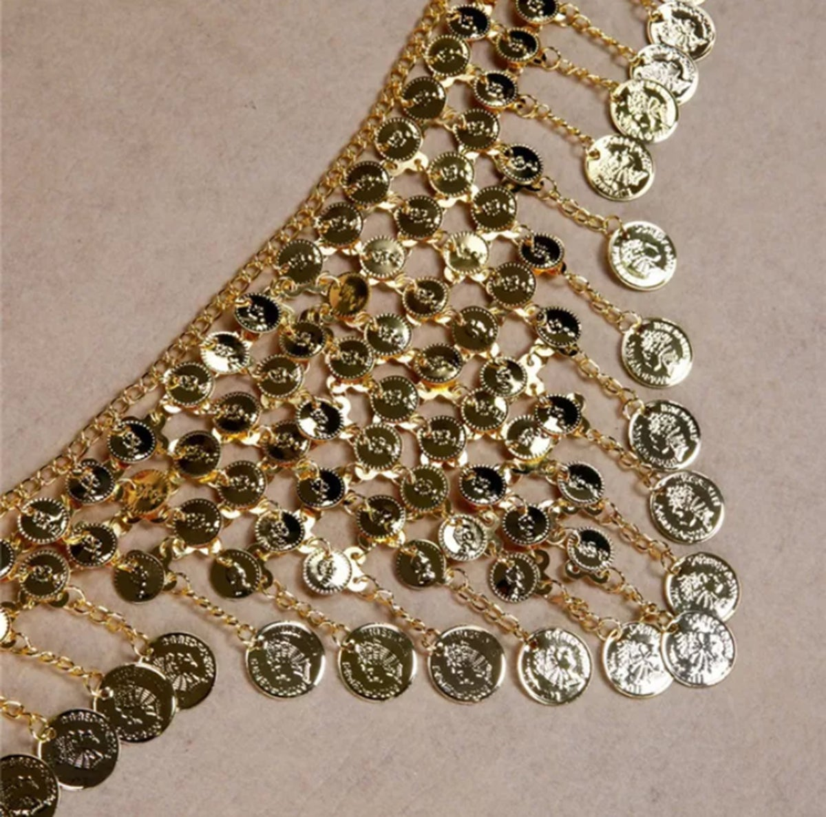 Image of Gold Coin Belly Chain