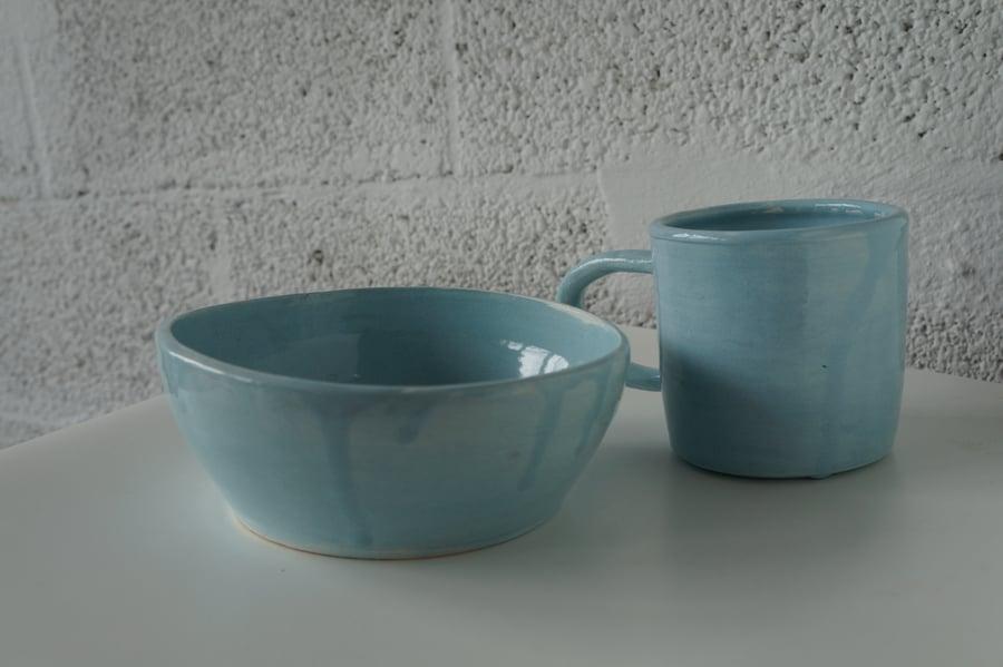 Image of Sky Blue Breakfast Set