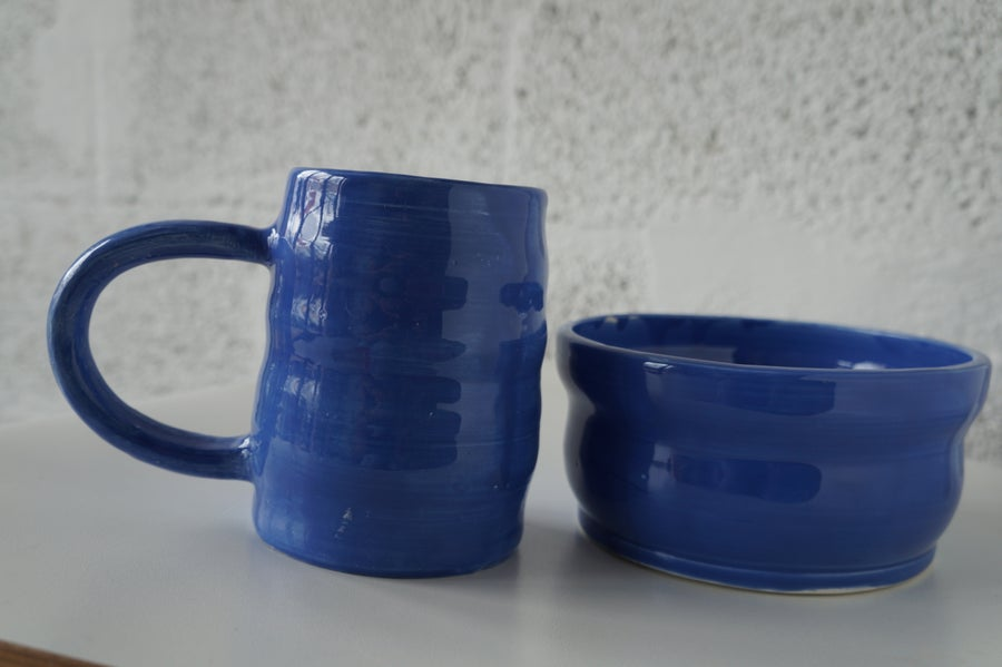 Image of Cobalt Blue Breakfast Set