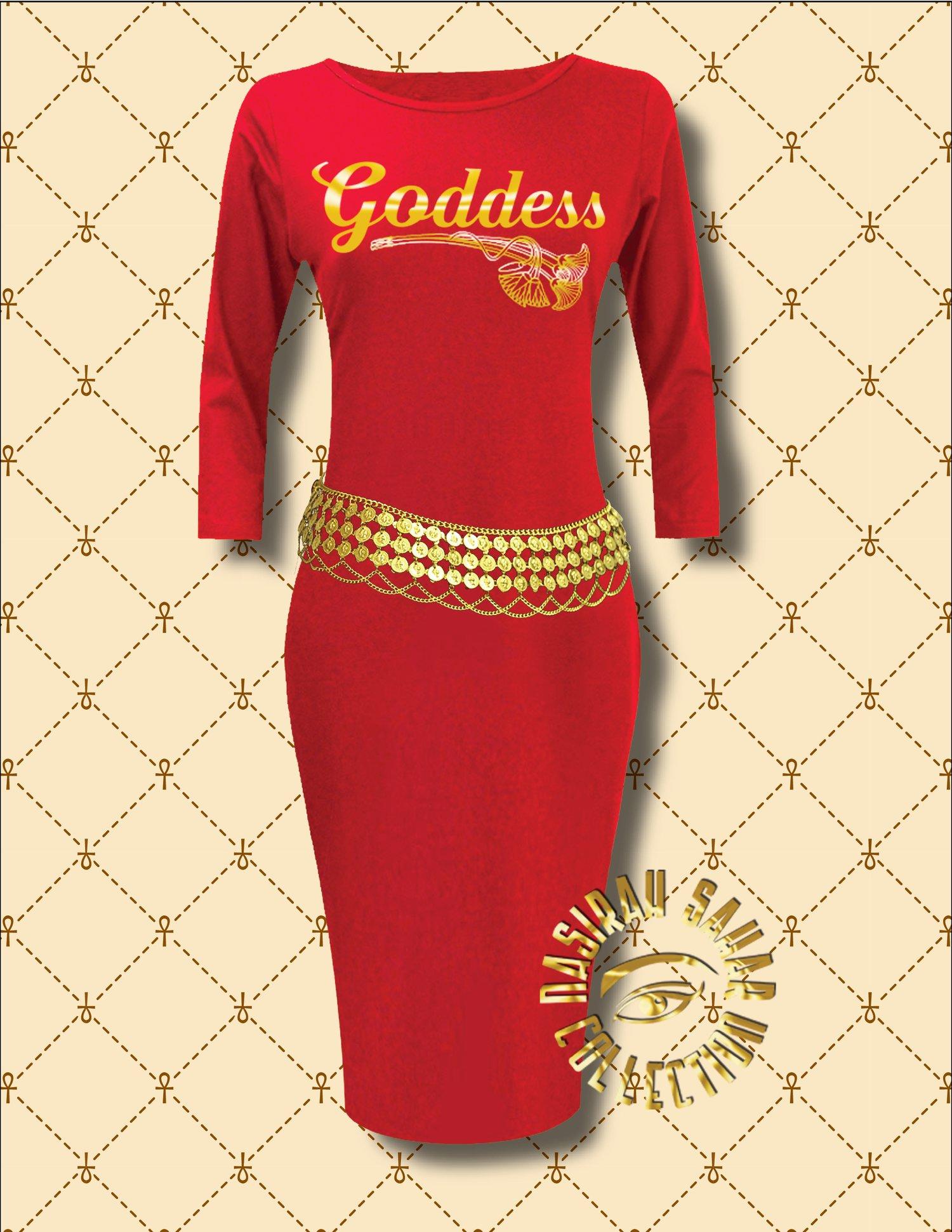 Image of NASIRAH SAHAR COLLECTION® GODDESS LONG SLEEVE BODYCON DRESS