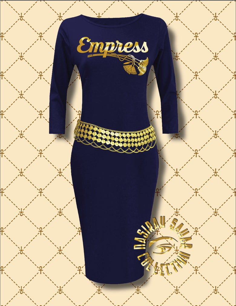 Image of NASIRAH SAHAR COLLECTION® EMPRESS LONG SLEEVE BODYCON DRESS