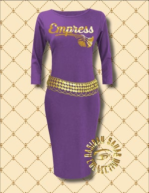 Image of NASIRAH SAHAR COLLECTION® EMPRESS LONG SLEEVE BODYCON DRESS