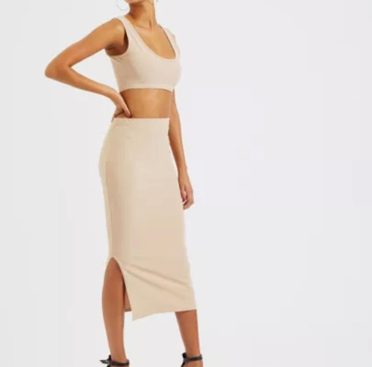 Image of Tanya crop tank & skirt set